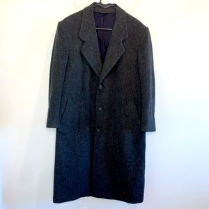 Roundtree Yorke 100% Wool Long OverCoat 40R